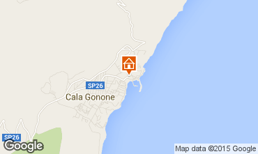 Karte Cala Gonone Appartement 59401