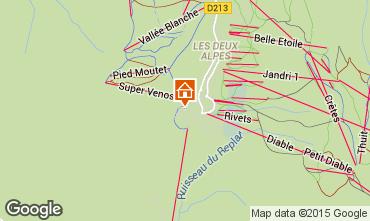 Karte Les 2 Alpes Appartement 66160