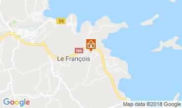 Karte Le François Bungalow 117034