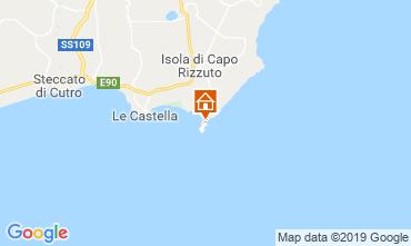 Karte Isola di Capo Rizzuto Appartement 29262