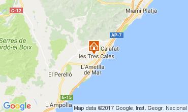 Karte La Ametlla de Mar Villa 110101
