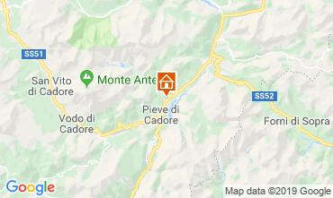 Karte Cortina d'Ampezzo Appartement 26458