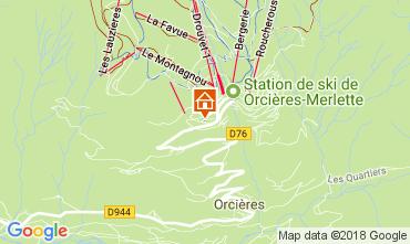Karte Orcières Merlette Appartement 113069