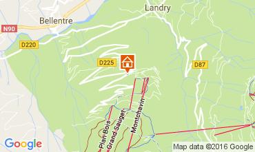 Karte Montchavin les Coches Appartement 73807