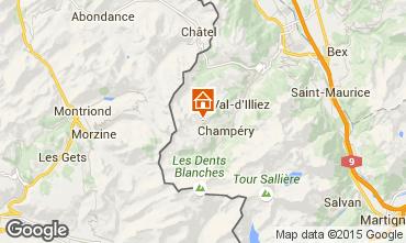 Karte Les Crosets Chalet 14794