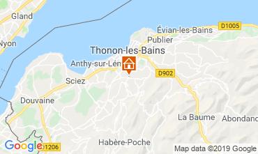 Karte Thonon Les Bains Appartement 113619