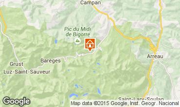 Karte La Mongie Appartement 4286