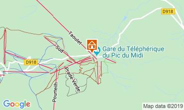 Karte La Mongie Studio 102286