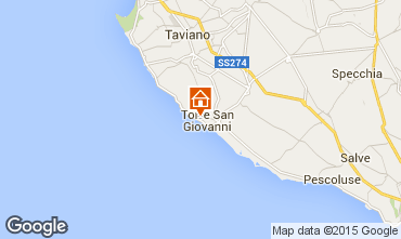 Karte Ugento - Torre San Giovanni Appartement 32426