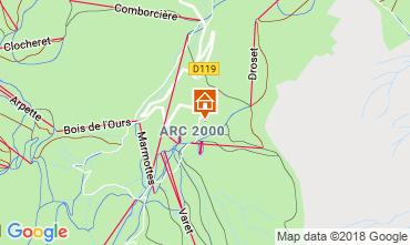 Karte Les Arcs Appartement 117125