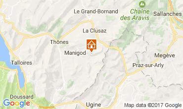 Karte Manigod-Croix Fry/L'étale-Merdassier Appartement 108269