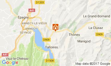 Karte Annecy Chalet 112362