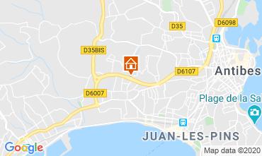 Karte Juan les Pins Appartement 32363