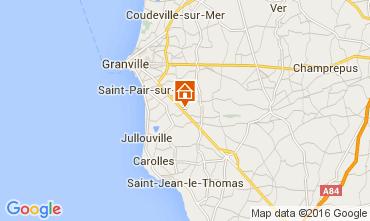 Karte Granville Ferienunterkunft auf dem Land 103621