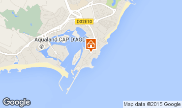 Karte Cap d'Agde Appartement 6176