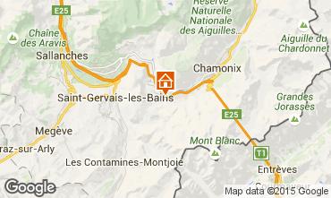 Karte Chamonix Mont-Blanc Appartement 22897