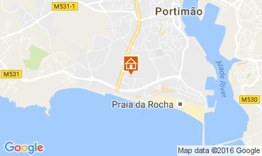 Karte Praia da Rocha Appartement 107137