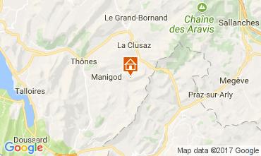 Karte Manigod-Croix Fry/L'étale-Merdassier Appartement 111851