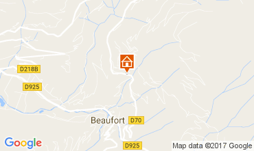 Karte Areches Beaufort Chalet 110373