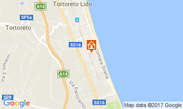 Karte Tortoreto Appartement 77121