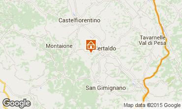 Karte Florenz Villa 92096