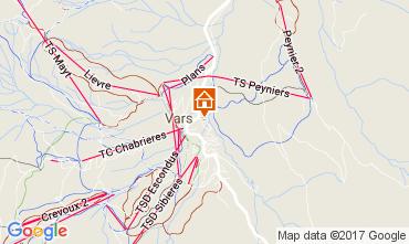 Karte Vars Chalet 111470