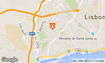 Karte Lissabon Appartement 77579
