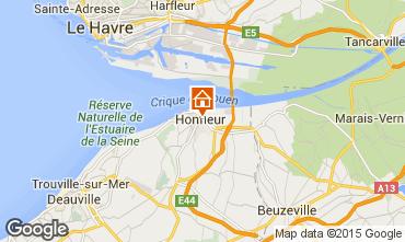 Karte Honfleur Appartement 46803
