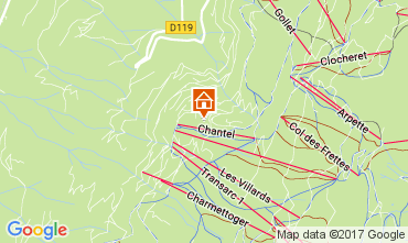 Karte Les Arcs Appartement 111955