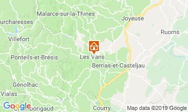 Karte Les Vans Ferienunterkunft auf dem Land 119245