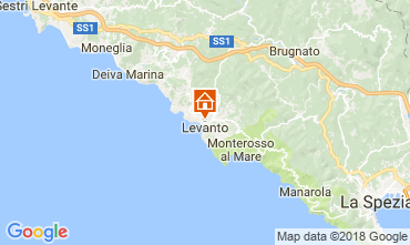 Karte Levanto Appartement 108846