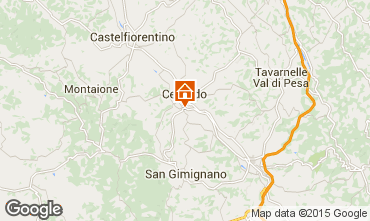 Karte San Gimignano Appartement 81030