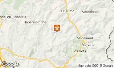 Karte Bellevaux Hirmentaz La Chèvrerie Appartement 27522