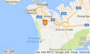 Karte Costa de Caparica Villa 63940