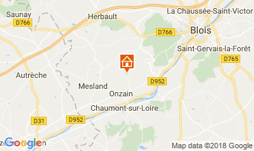 Karte Onzain Mobil-Home 111043