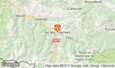 Karte Ax Les Thermes Appartement 80178