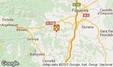 Karte Figueres Ferienunterkunft auf dem Land 73706