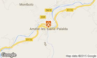 Karte Amélie-Les-Bains Studio 56172